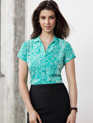 Solanda Ladies Print Short Sleeve Shirt