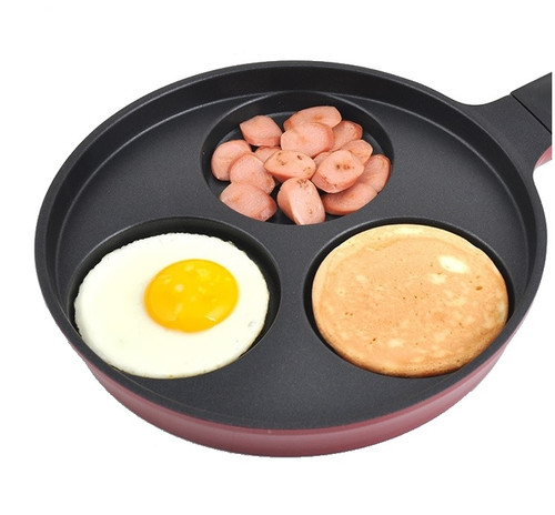 Queen Sense 3 in 1 Divided Sectional Frying Pan – Non Stick Egg Hot Multi Frying Pan