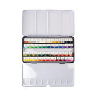 Mungyo Sargent Art 32-6048 Artist Quality 48ct Professional Watercolor Set, Tin Case