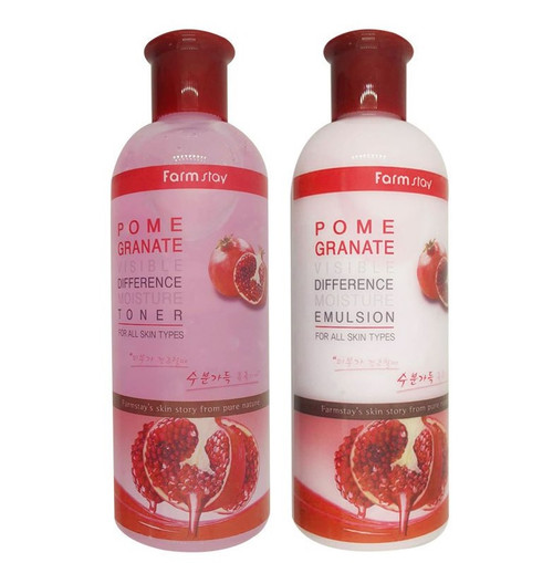 Farmstay Pomegranate Visible Difference Moisture Emulsion Or Toner 350ml 11.83 oz