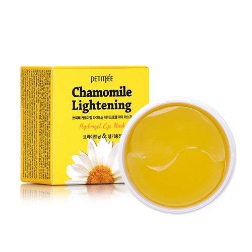 PETITFEE Chamomile Lightening Eye Patch (60 pieces, 30 pairs) Soothing, Skin-Fit, Moisturizing, Nourishing