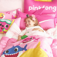 Pinkpong Separate Nap Quilt Pink Shark Family Duvet+Mini Pillow+Carpet+Waterproof Bag