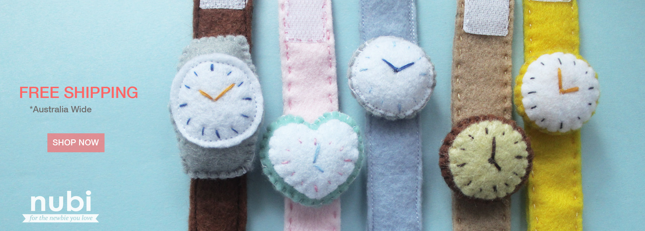 handcrafted baby felt toy watch