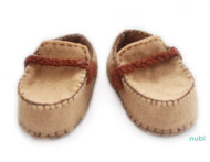 light brown baby shoes