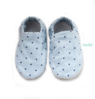 Blue Polkadot Baby Shoes
