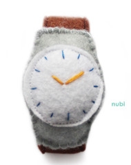 felt toy watch brown