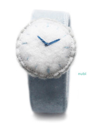 felt watch light blue