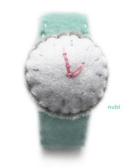 Mint Green Felt Watch