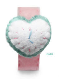 Pink Heart Felt Watch
