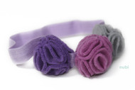 flower girl purple headband wedding