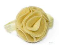 pastel yellow baby headband