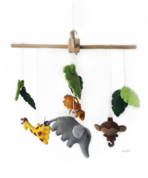 jungle animal baby mobile