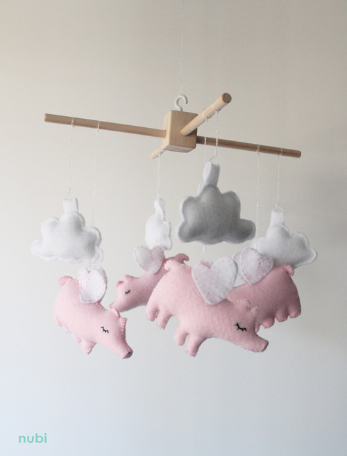 flying pig nursery mobile
