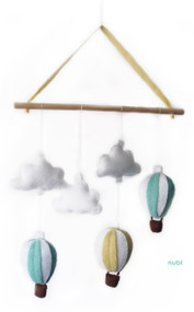 hot air balloon baby mobile