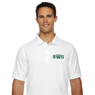 SWG Devon & Jones Men's Short Sleeve Polo Shirt - White