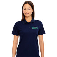 SWG Ash City Core 365 Women's Short Sleeve Piqué Polo Shirt - Navy