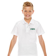 SWG Ash City Extreme Youth Short-Sleeve Polo - White