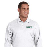 SWG Devon & Jones Men's Long Sleeve Polo Shirt - White
