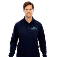 SWG Ash City Core 365 Men's Long Sleeve Piqué Polo Shirt - Navy