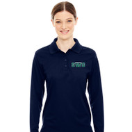 SWG Ash City Core 365 Women's Long-Sleeve Piqué Polo - Navy