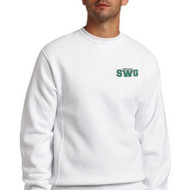 SWG Russell Unisex Dri-Power Fleece Crewneck Sweat shirt - White