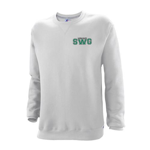 83bde96d3 SWG Russell Youth Dri-Power Fleece Crewneck Sweatshirt - White ...