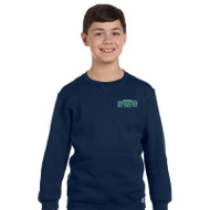 SWG Russell Youth Dri-Power Fleece Crewneck Sweatshirt - Navy