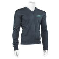 SWG Durapil Ultra Acrylic Youth V-neck Long Sleeve Sweater - Navy