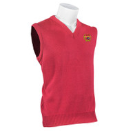 RHCA 6-8 Girls Acrylic Vest Embroidered - Red