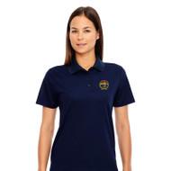 RHCA 9-12 Girls Short Sleeve Polyester Pique Polo (Embroidered) - Navy