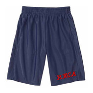 RHCA K-5 Dazzle Gym Shorts - Printed Logo - Navy