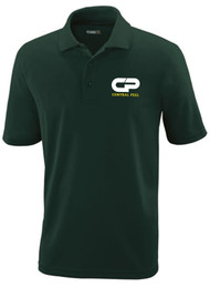 CPS Men's Performance Short Sleeve Pique Polo - Forest Green