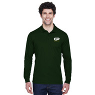 CPS Men's Performance Long Sleeve Pique Polo - Forest Green (CPS-POL8M-FO)