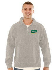 CPS Adult Zipneck Pullover Sweatshirt - Grey Mix