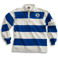MCP Youth Barbarian Casual 4 Inch 8 Stripe Rugby Shirt - Royal