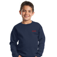 RHCA K-5 CrewNeck Embroidered Sweatshirt (Adult Sizes) - Navy