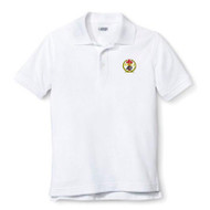 RHCA K-5 Short Sleeve Polo Shirt Embroidered (Adult Sizes) - White