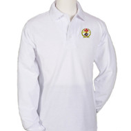 RHCA K-5 Long Sleeve Polo Shirt Embroidered (Adult Sizes) - White