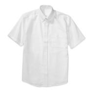 RHCA 6-8 Boys Short Sleeve Oxford Shirt (Adult Sizes) - White