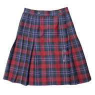 RHCA 9-12 Girls Plaid Kilt (Adult Sizes) - Navy/Maroon/Grey