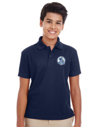 MCP Youth Short Sleeve Polo Shirt - Navy (U-POL5Y-NY)