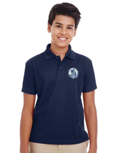 MCP Youth Short Sleeve Polo Shirt - Navy (U-POL5Y-NY)