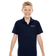 DPS Ash City Youth Short Sleeve Polo Shirt - Navy (144-C-NY)