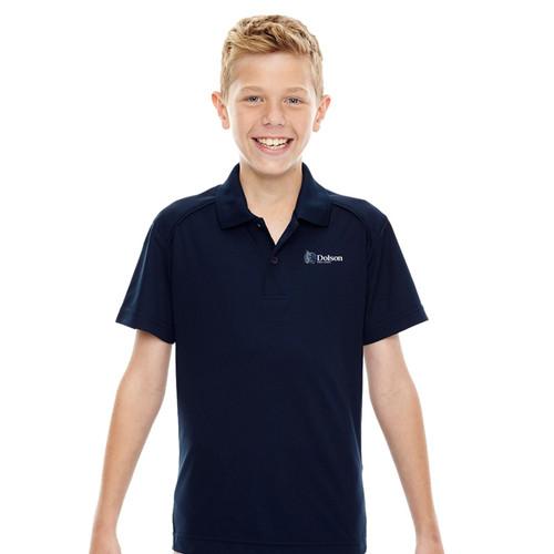 DPS Ash City Youth Short Sleeve Polo Shirt - Navy (144-C-NY)