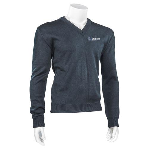 DPS Adult V-Neck Durapil Ultra Acrylic Sweater - Navy (144-G-NY)