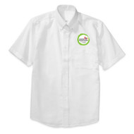 WMS Unisex Oxford Short Sleeve Shirt - White