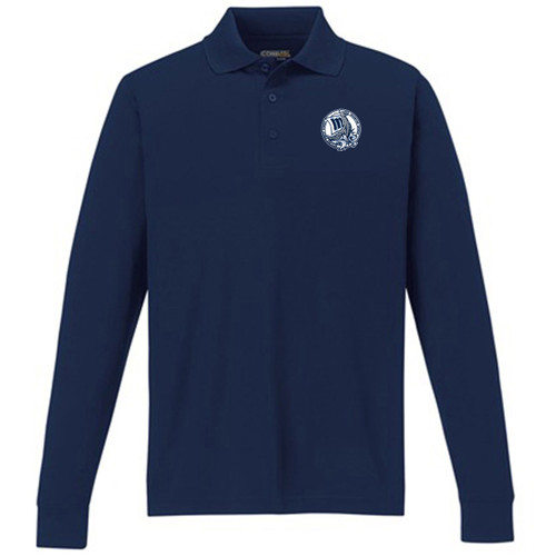 MCP Youth Long Sleeve Polo Shirt - Royal (MCP-POL7Y-NY)