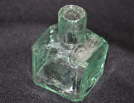 Civil War Aqua glass Inkwell