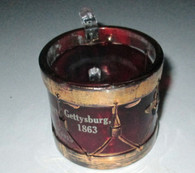 Rare! Gettysburg ruby glass from 50th Anniversary Reunion - drum (SOLD)