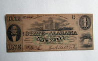 Original Confederate Alabama One Dollar note, 1863